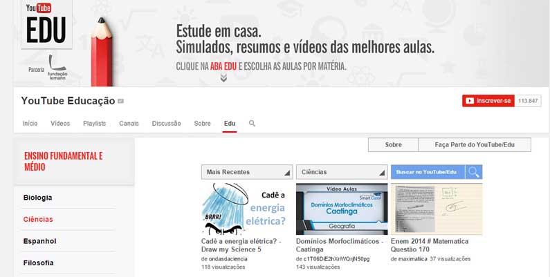 Youtube Educação