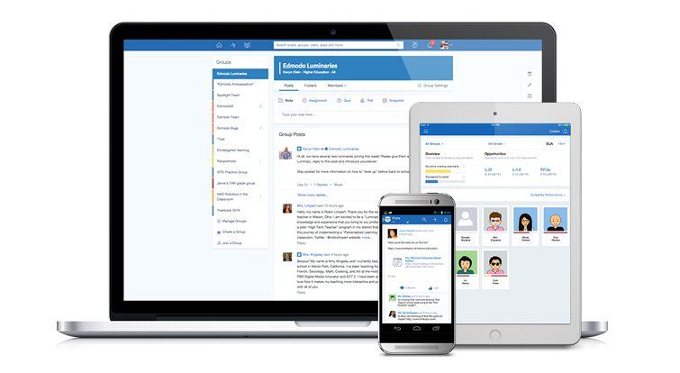 tela da ferramenta online Edmodo