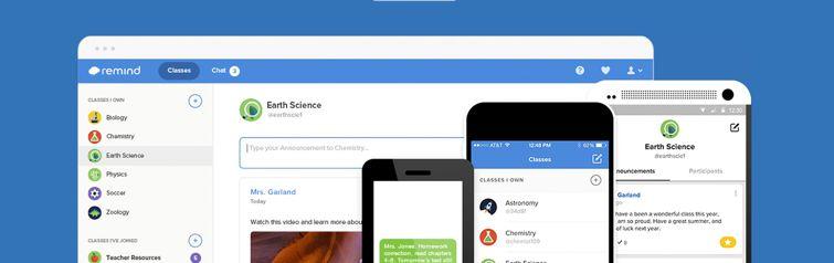 tela da ferramenta online Remind