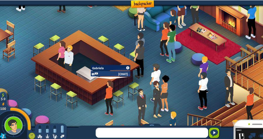 tela do jogo educativo backpacker