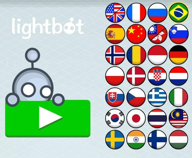 LIGHTBOT - seleção de idioma