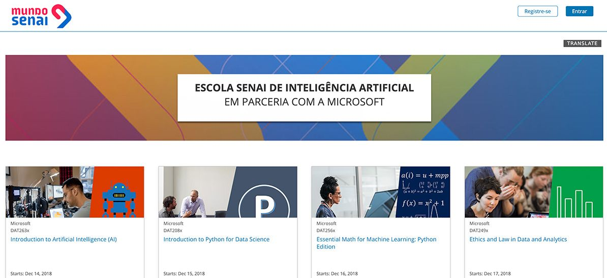 Escola SENAI de Inteligência Artificial